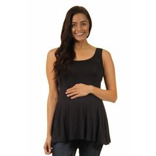 24/7 Comfort Apparel Women's Maternity Sleeveless Tunic Tank