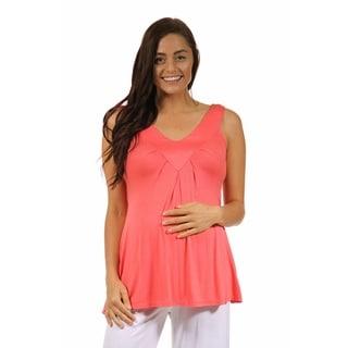 24/7 Comfort Apparel Women's Sleeveless Maternity Tunic