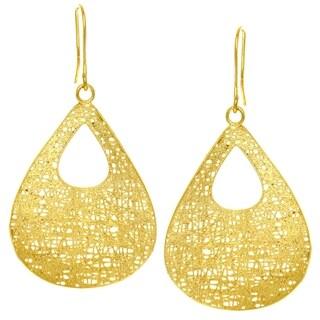 14k Yellow Gold Fancy Teardrop Dangle Earring