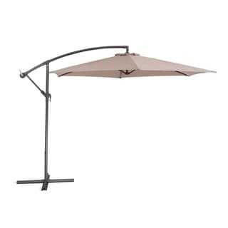 Cavalli Mocca by Beliani Outdoor Cantilever Umbrella