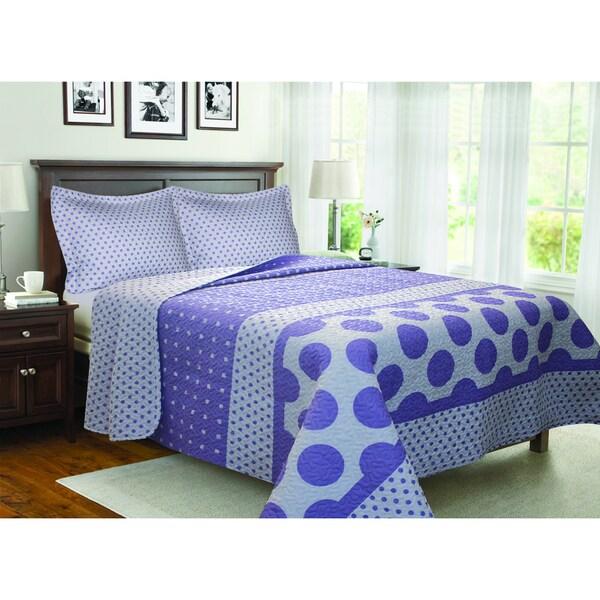Dot Stripe 3-piece Quilt Set