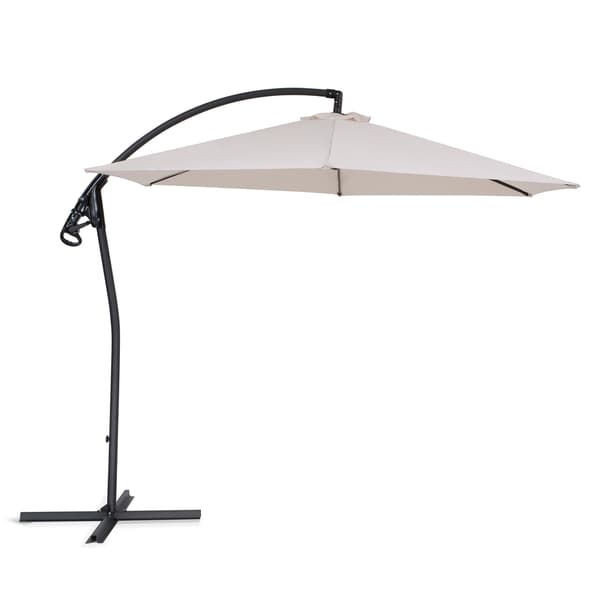 Asti Cream by Beliani Cantilever Outdoor Umbrella