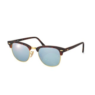 Ray-Ban Men's RB3016 Clubmaster Rectangular Sunglasses