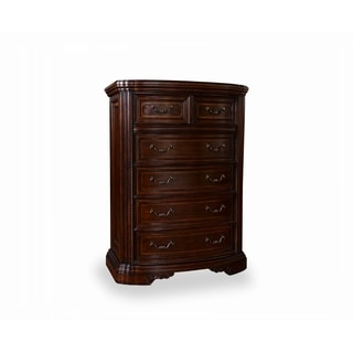 White Oak and Walnut Drawer Chest with Six Drawers