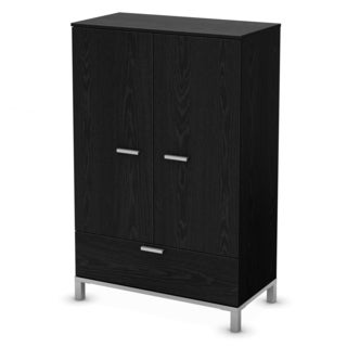 South Shore Black Oak Flexible Armoire