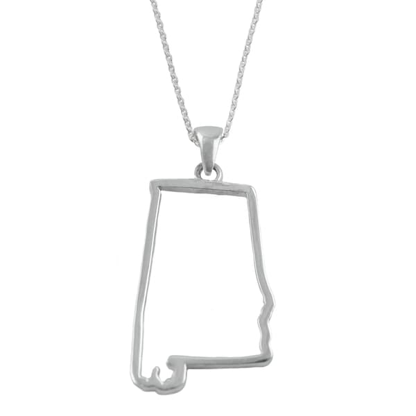 Alabama State Outline Necklace