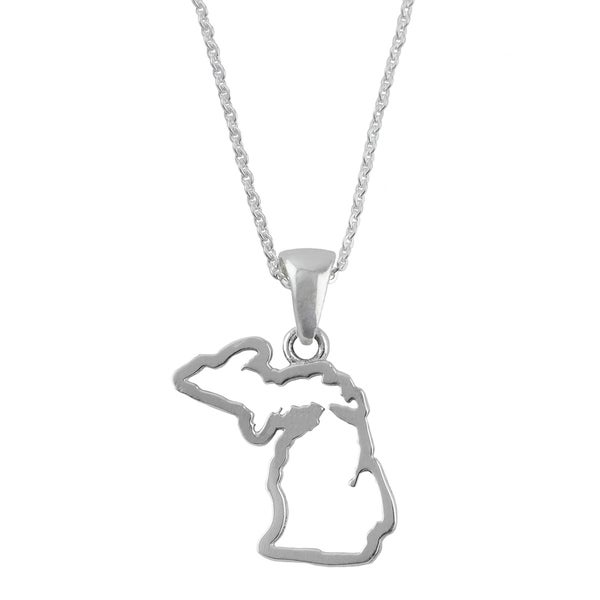 Michigan State Outline Necklace