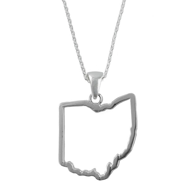 Ohio State Outline Necklace 15523524
