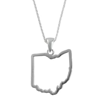 Ohio State Outline Necklace