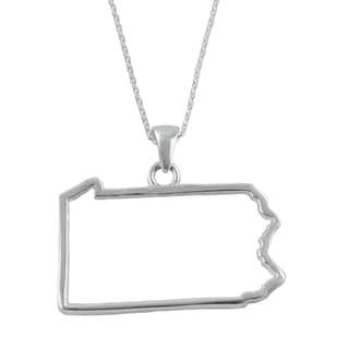 Pennsylvania State Outline Necklace