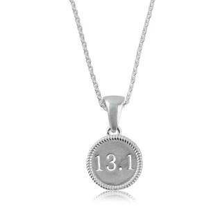 13.1 Half Marathon Sterling Silver Necklace