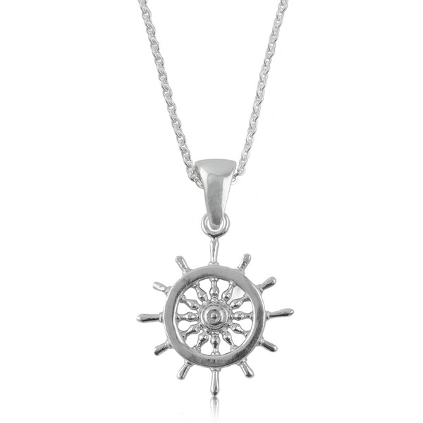 Sterling Silver Helm Necklace
