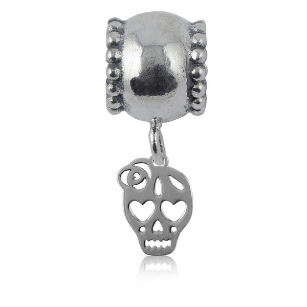Sterling Silver Skull Charm Bead
