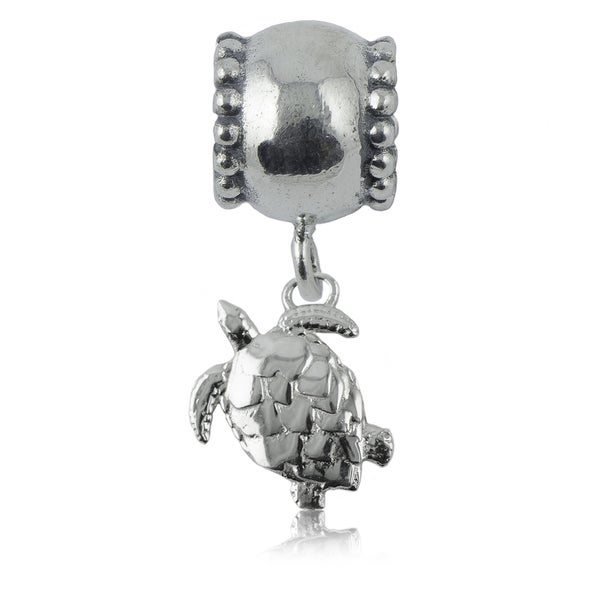 Sterling Silver Turtle Charm Bead