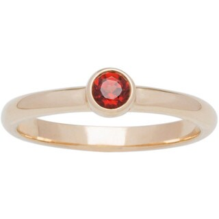 10k Yellow Gold Round Bezel-set Birthstone Ring
