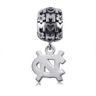 UNC Sterling Silver Mom Charm Bead