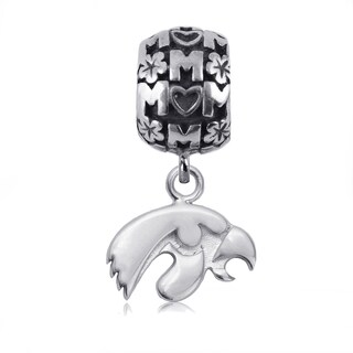 Iowa Sterling Silver Mom Charm Bead