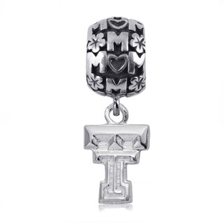 Texas Tech Sterling Silver Mom Charm Bead