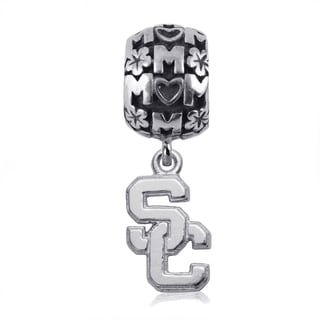 USC Sterling Silver Mom Charm Bead