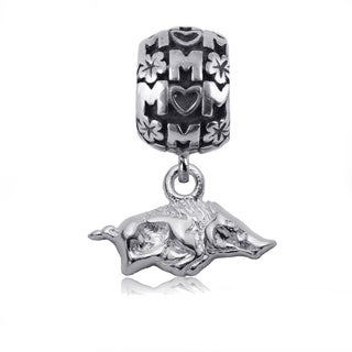 Arkansas Sterling Silver Mom Charm Bead