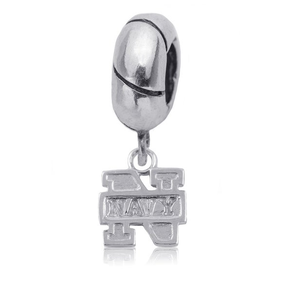Navy Sterling Silver Charm Bead