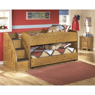 Signauture Design by Ashley Stages Brown Twin-size Caster Bed Set