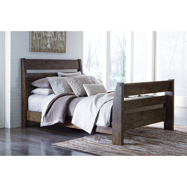 Signature Design by Ashley Emerfield Brown King-size Sleigh Bed Frame