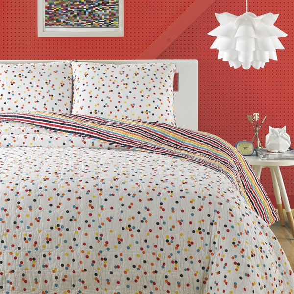 Teen Vogue Disty Dot 3-piece Quilt Set