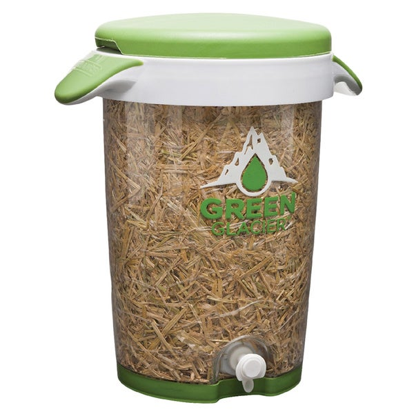 Reliance Green Glacier Cooler 2.5 Gallon Straw Insulation