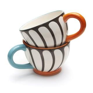 Blue Brulee Large Mugs by La Cote (Set of 2)