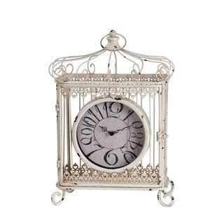 Privilege Iron Scroll Bird Cage Design Table Clock