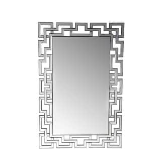 Privilege Geometric Chain Beveled Wall Mirror