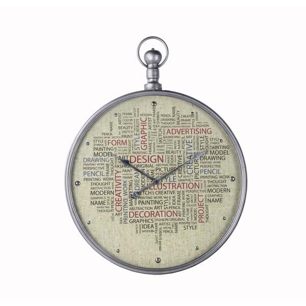 Privilege Linen Face Metal Clock