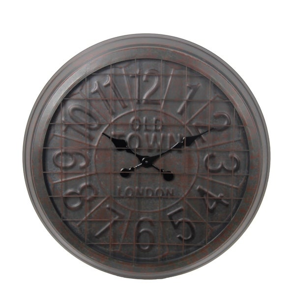 Privilege Old Squre Round Metal Wall Clock