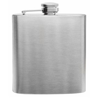Top Shelf Stainless Steel 6-ounce Hip Flask