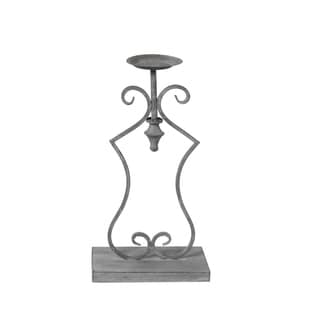 Privilege Grey Medium Iron Candle Holder