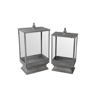 Privilege Grey 2-piece Iron Lanterns