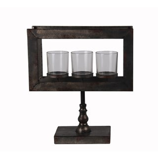 Privilege Rusted 3 Votive Metal Candle Holder on Stand