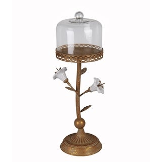 Privilege Rusted Flower Large Metal Candle Holder