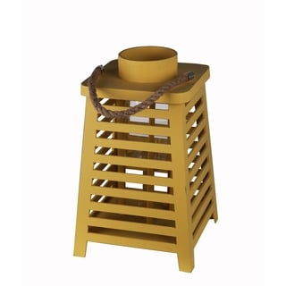 Privilege Yellow Yellow Wooden Lanter