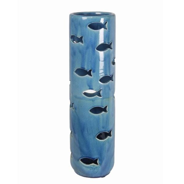 Privilege Large Blue Fish Ceramic Lantern