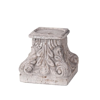 Privilege Grey Large Rustic Candle Holder