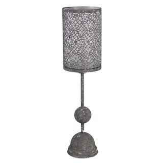 Privilege Red Metal Candle Holder
