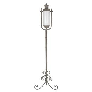 Privilege Grey Large Candle Floor Lantern