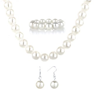 Little Girl Faux Pearl Jewelry Set