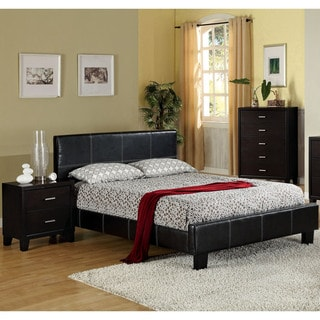Furniture of America Geriza Modern 2-piece Espresso Youth Bed and Nightstand Set