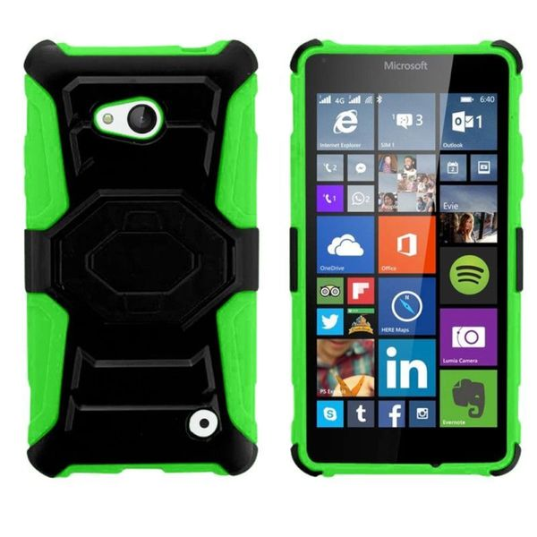 Insten Hard PC/ Silicone Dual Layer Hybrid Phone Case Cover For Microsoft Lumia 640 Metro PCS/ Lumia 640 T-mobile