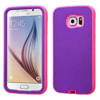 Insten Verge Hard PC/ Silicone Dual Layer Hybrid Rubberized Matte Phone Case Cover For Samsung Galaxy S6