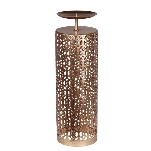Privilege Gold Medium Decorative Iron Candle Holder