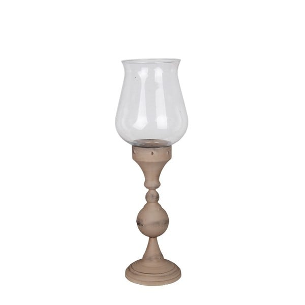 Privilege Light Grey Small Hurricane Candle Holder